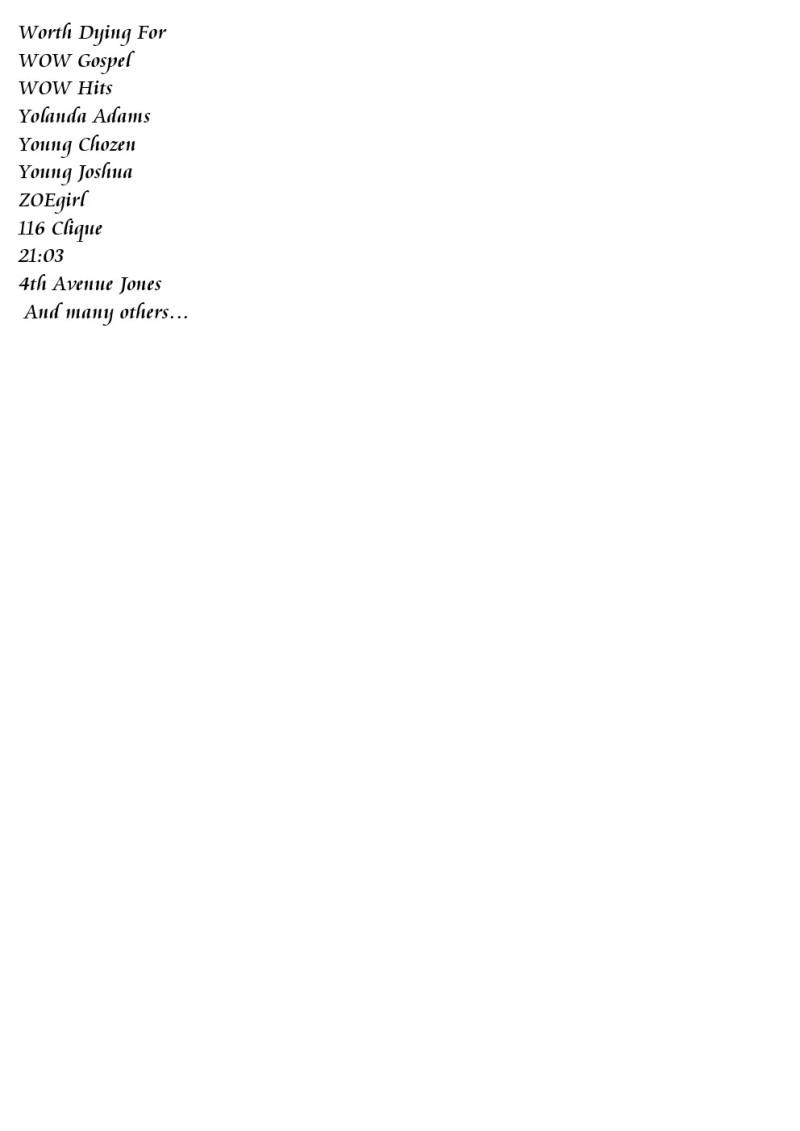 TholhuGospels List